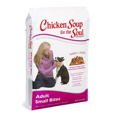Chicken Soup for The Soul Adult Small Bites All Natural Dry Dog Pet Food 15lbs