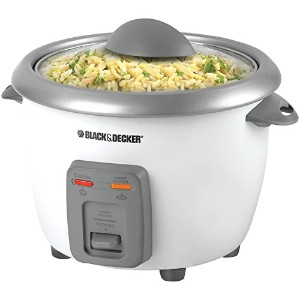 Black & Decker RC3406 3-Cup Dry/6-Cup Rice Cooker andSteamer, White by BLACK+DECKER