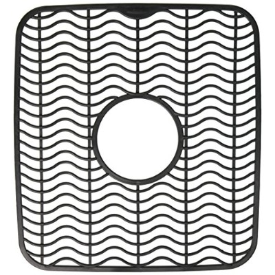 (Small, Black Waves) - Rubbermaid Antimicrobial Sink Protector Mat, Black Waves, Small (FG129506BLA)