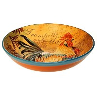 Certified International byアートライセンス素朴なRoosterパスタ/ Serving Bowl 12.75 by 3-Inch 44147