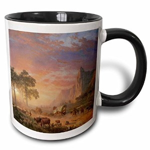 3drose BLN American West Fineアートコレクション – The Oregon Trail by Albert Bierstadt American West – マグカップ...