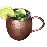 Melange銅バレルMug for Moscowミュール–100% Pure Hammered Copper–Heavy Gauge–No lining–includes...