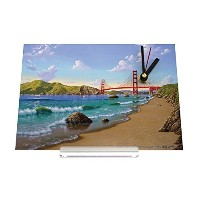 置き時計 Desk Table Clock World Tour Golden Gate Bridge San Francisco USA beach Retro Decoration