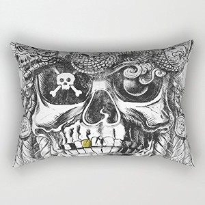 Skull Pillow Covers 20 X 26 Inches / 50 By 65 Cm Best Choice For Bar,dinning Room,kids Room,kids,bf...