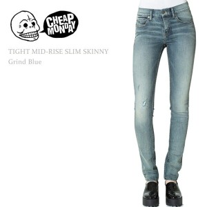 Cheap Monday(チープマンデー)TIGHT MID RISE SLIM Grind Blueスキニー/デニム
