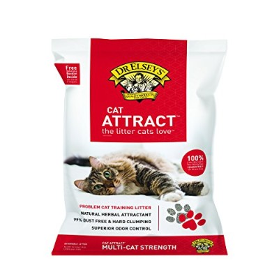 Precious Cat Dr. Elseys All Natural Attract Cat Scoopable Training Litter 40lbs