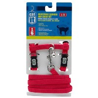 Catit Nylon Adjustable Cat Harness and Leash Set, Large, Red by Catit