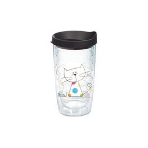 Polka Dot Cat 16oz with Lid by Tervis