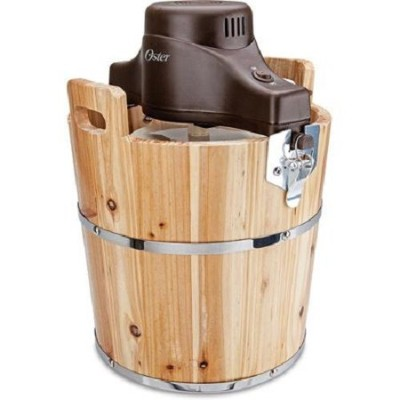 Oster 4-Quart Wood Bucket Ice Cream Maker by Oster