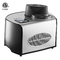 Gourmia GSI200 Stainless Steel 1.6 Qt SleekServe Automatic Ice Cream Maker - Gelato, Sorbet and...