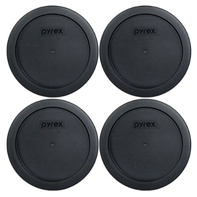 (4, Midnight Black) - Pyrex 7201-PC Round 4 Cup Storage Lid for Glass Bowls (4, Midnight Black)