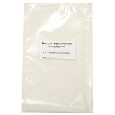 100 - 8 x 12 Quart Bags - Thicker, Heavy-Duty Commercial Quality Textured Vacuum Sealer Bags For...