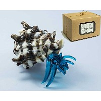 Miniature Hermit Crab Art Blown Glass Figurine Handmade hc011 with Lusy Craft Package カラフル...