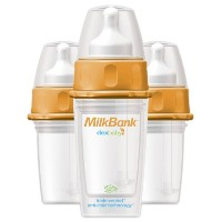 MilkBank BPA Free Insulated Feeding Bottles 5 oz - 3-Pack 哺乳瓶 140ml 3本セット