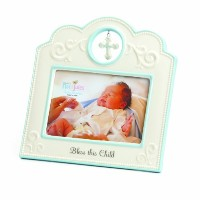 Nat and Jules Bless This Child Frame, Blue by Nat and Jules