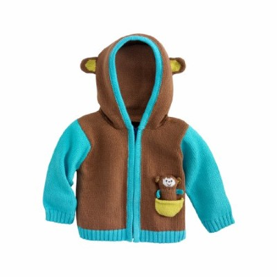 Joobles Organic Baby Cardigan Sweater - Mel the Monkey (12-18 Months) by Joobles