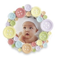 Kate Aspen Round Photo Frame, Cute as a Button by Kateaspen