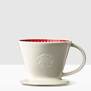 STARBUCKS(スターバックス)Red & White Pour-Over Cone [並行輸入品]