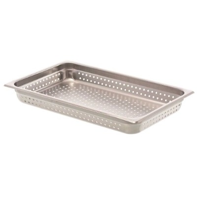 Browne (8002P) 3 Full-Size Perforated Steam Table Pan by Browne Foodservice