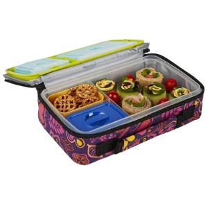 Fit & Fresh Kids' Bento Box Lunch Kit with Reusable BPA-Free Removable Plastic Containers,...