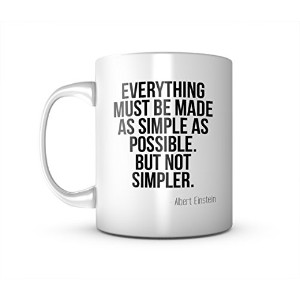 Everything Must Be Made As Simple As Possible Einstein 引用する セラミック マグカップ コーヒーティーカップ