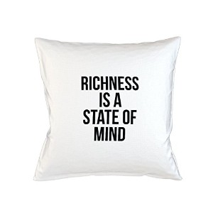 Richness Is A State Of Mind やる気を起こさせます Wise Sofa ベッドホームデコールクッション 枕カバー・ピローケース 白
