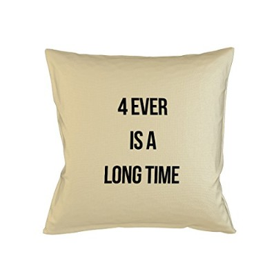 4Ever Is A Long Time Forever 素敵 Sofa ベッドホームデコールクッション 枕カバー・ピローケース ベージュ