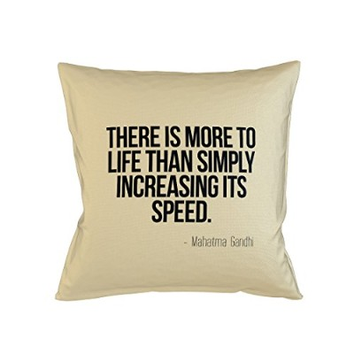 There Is More To Life Than Simply Increasing Its Speed Ghandi 引用する Sofa ベッドホームデコールクッション 枕カバー・ピローケース...