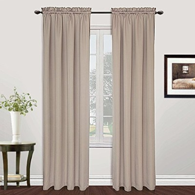 High Quality Metro Woven Window Curtain Panel, 54 by 72-Inch, Natural