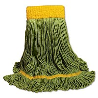 High Quality EcoMop Looped-End Mop Head, Recycled Fibers, Extra Large Size, Green (1200XL)