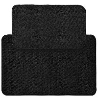 High Quality Town Square 2-Piece Kitchen Rug Set, 18-Inch by 30-Inch, Black