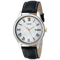 [パルサー]Pulsar 腕時計 Traditional Collection Analog Display Japanese Quartz Black Watch PH9037 メンズ ...
