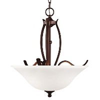 Feiss F3003/3ORBH 3-Light Uplight Chandelier by Feiss