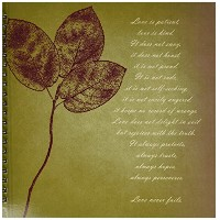 PS Inspirations–Red LeavesインスピレーションLove Is Patient , Love Is Kind Bible Verse–Drawing Book 12...
