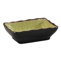 CAC China 666-32-Golden Green Japanese Style 3-1/4-Inch by 2-1/2-Inch Golden Green Sauce Dish, Box...