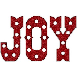 Heidi Swapp Marquee Christmas Plastic Joy Shapes [並行輸入品]