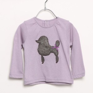 【SALE 80%OFF】リシェス richesse いぬ長袖Tシャツ (パープル)