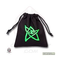 Q-WORKSHOP Call of Cthulhu Dice Bag in Linen Black (クトゥルフ ダイスバッグ ブラック)