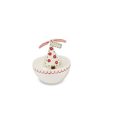 Mud PieクリスマスセラミックDeck The Halls Dip Bowl Cup 4855037T