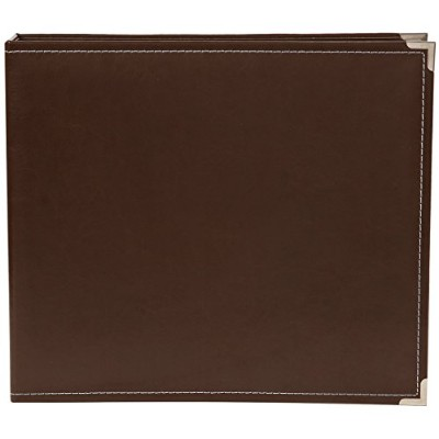 High Quality Stories Faux Leather Binder, 12 by 12-Inch, Brown