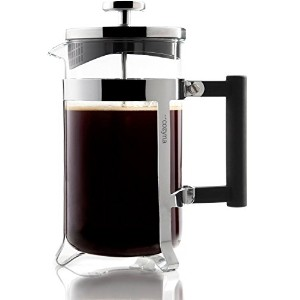 Cozyna Eden 8-cup (4oz Each) Stainless Steel French Press Coffee and Tea Maker, 34 Ounces with a...