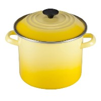 Le Creuset Enameled Steel Stock Pot with Lid, 8-Quart, Soleil [並行輸入品]