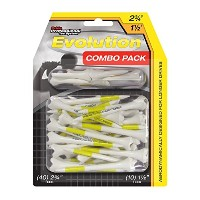Pride Professional Tee System Evolution Plastic Golf Tees (Pack of 50), 40 Count 2-3/4-Inch + 10...