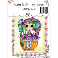 """My Besties Clear Stamps 4""""X6""""-Trixie & Kitty Spider (並行輸入品)"""