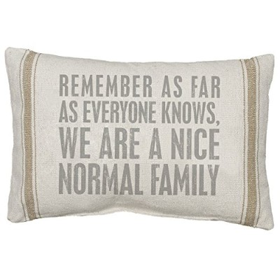 Primitives by Kathy 3-Stripe Normal Family Pillow, 14 by 20-Inch, Tan by Primitives By Kathy