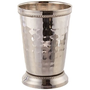 Elegance 12 oz Hammered Mint Julep Cup, Large, Silver [並行輸入品]
