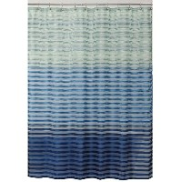 Allure Home Creations Ombre Stripe Shower Curtain, Blue [並行輸入品]