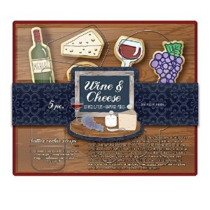 Fox Run Brands Wine & Cheese Cookie Cutter Set, Metallic [並行輸入品]