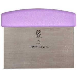 Mercer Culinary M18810PU Millennia Bench Scraper with Purple Handle, 6' by 3', Stainless Steel,...
