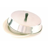Crestware 10-Inch x 2-1/2-Inch Stainless Steel Basting Pan Cover with Tall Bakelite Knob [並行輸入品]